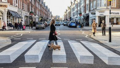 3D σχέδιο σε δρόμο στο Λονδίνο -Το έβαλαν επίτηδες για να κόβουν ταχύτητα οι οδηγοί