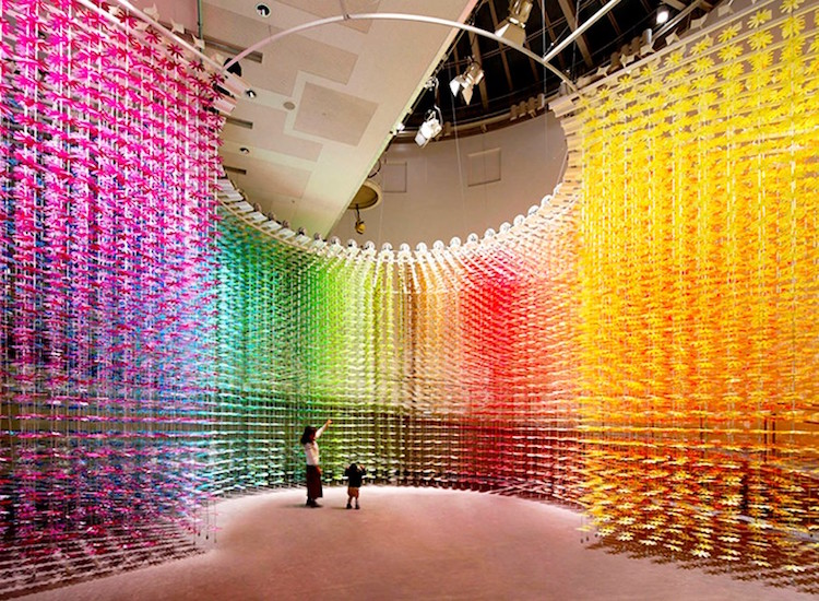 Over 25,000 paper flowers transform room into colorful art experience