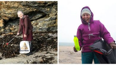 70-year-old woman cleans 52 beaches in one year, shows it's never too late to care for earth