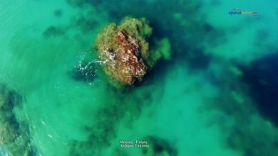 Η Παραλία με το μοναδικό βράχο Μονολίθι στην Πρέβεζα