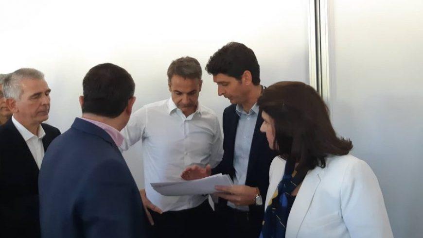 Με τον Πρωθυπουργό, κ.  Κυριάκο Μητσοτάκη, συναντήθηκε ο Δήμαρχος Λευκάδας, κ. Χαράλαμπος Καλός