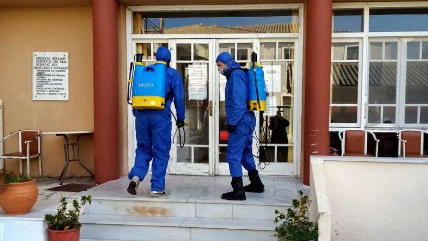 Π.Ε. Λευκάδας: Στο πλευρό του Γηροκομείου και της Πυροσβεστικής στη μάχη κατά του κορωνοϊού