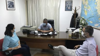 Συσκέψεις της Περιφερειάρχη Ιονίων Νήσων με Αστυνομία και Λιμεναρχείο Λευκάδας