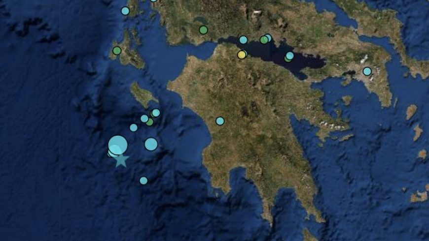 Σεισμός 5,4 Ρίχτερ στο Ιόνιο Πέλαγος
