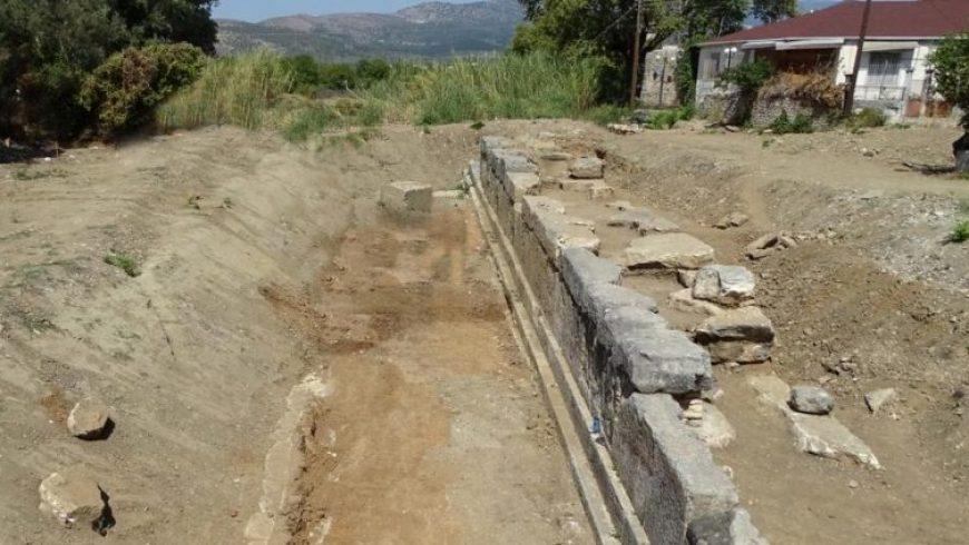 Το τείχος της αρχαίας Αμβρακίας αποκαλύπτεται