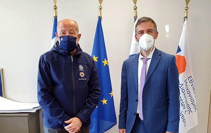 Σύσκεψη του Αντιπεριφερειάρχη Λευκάδας με τον Γενικό Γραμματέα Πολιτικής Προστασίας, στην Αθήνα