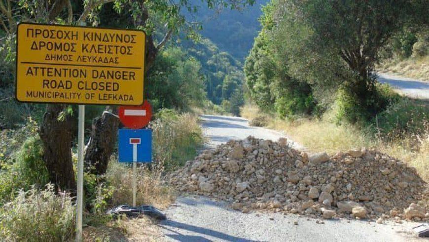 Δήμος Λευκάδας: Επανεκκίνηση εργασιών στον δρόμο της Λαγκάδας