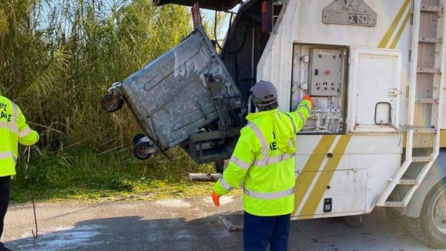Καθαρισμός και απολύμανση υπέργειων κάδων από τον Δήμο Λευκάδας